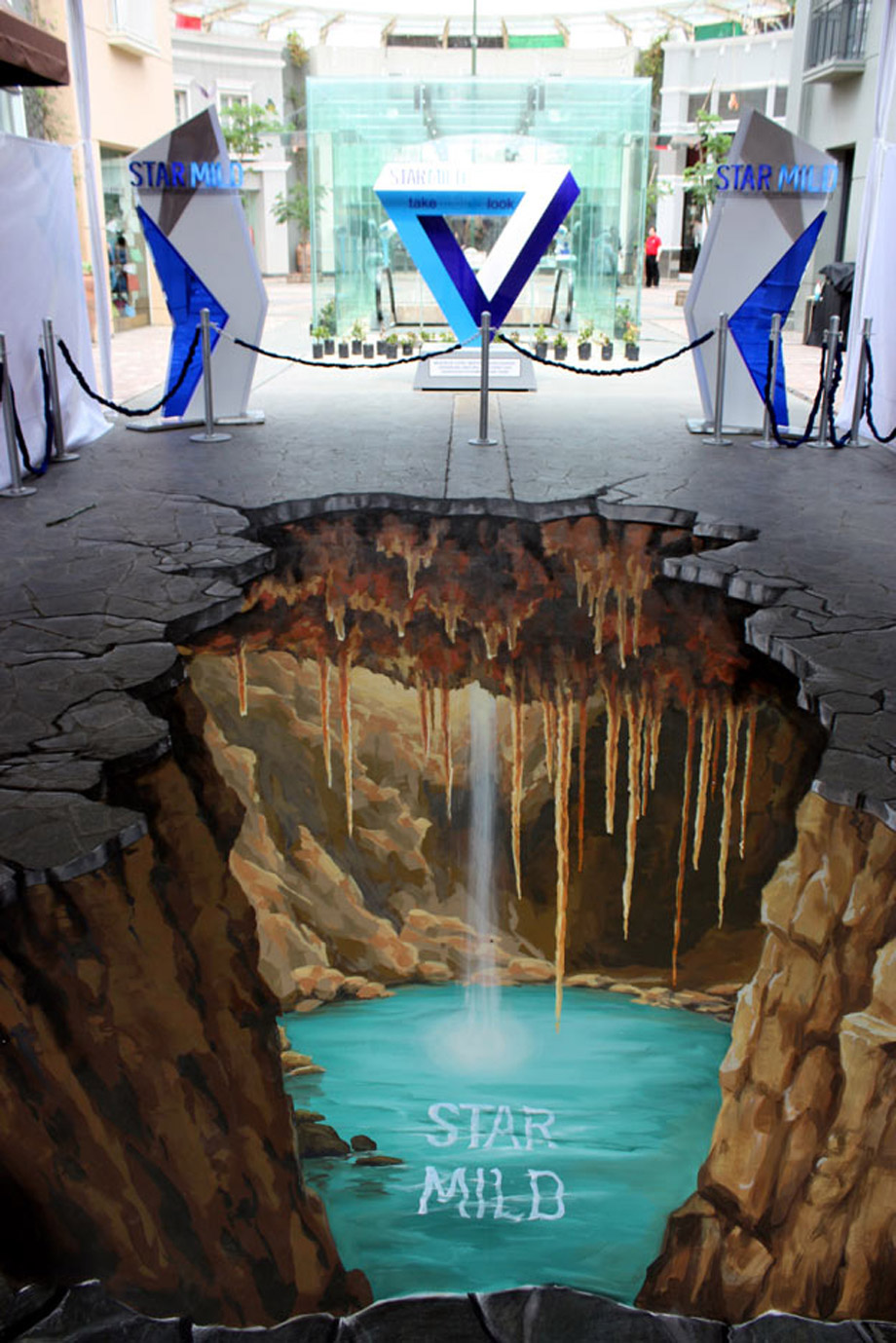 3d street painting starmild for Floor 3d painting