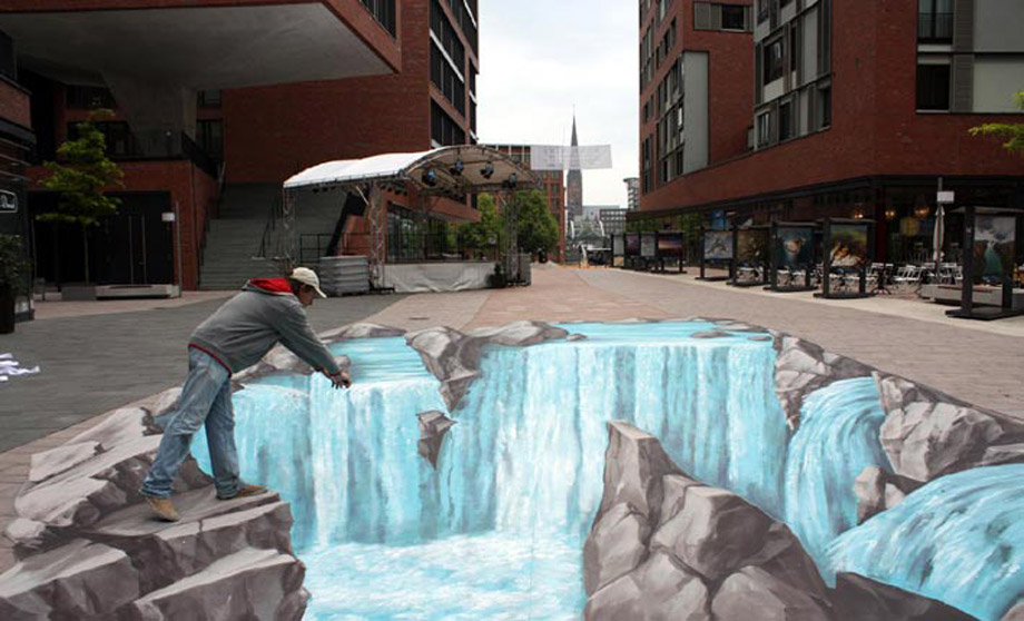 Interactive 3D Street Art in Hamburg