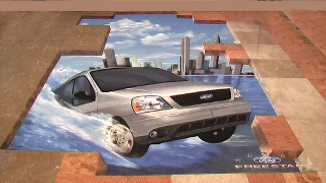 3D Street Painting for Ford, Mexico