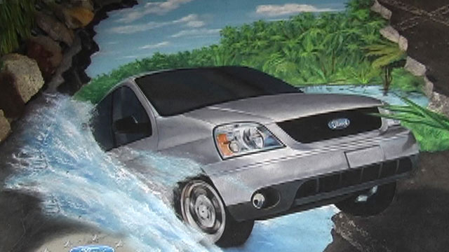 Second location of 3D street art for Ford Mexico