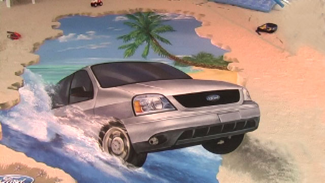 Third 3D street art piece for Ford Mexico