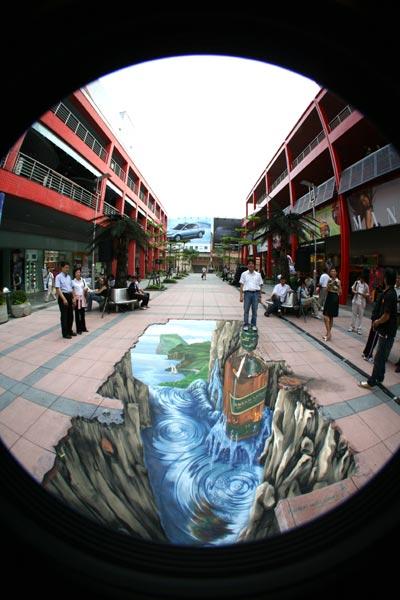 3d Street Painting Johnnie Walker Taipei