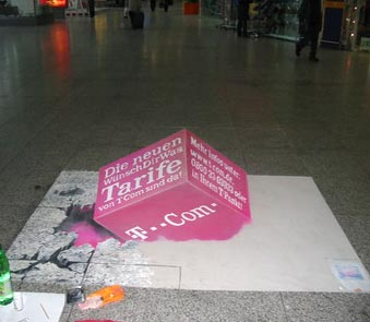 3D street painting for t-com in progress