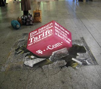 3D street painting for t-com finished