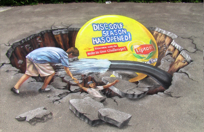 3D street painting for Lipton in Amsterdam