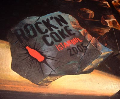 Detail of 3D painting for 2005 Rock'n Coke festival, Istanbul