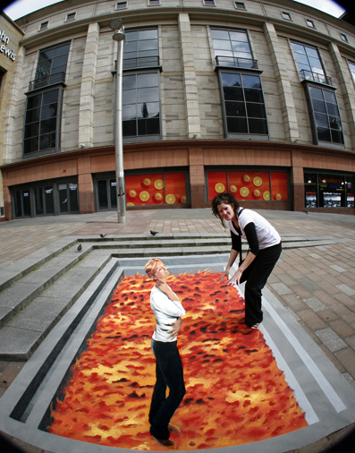 3D street painting for Pfizer