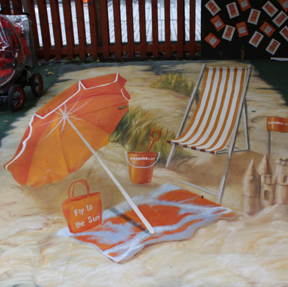 3D street painting for Easyjet in Edinburgh