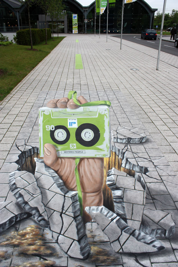 3D street art for Interprint at a Cologne fair