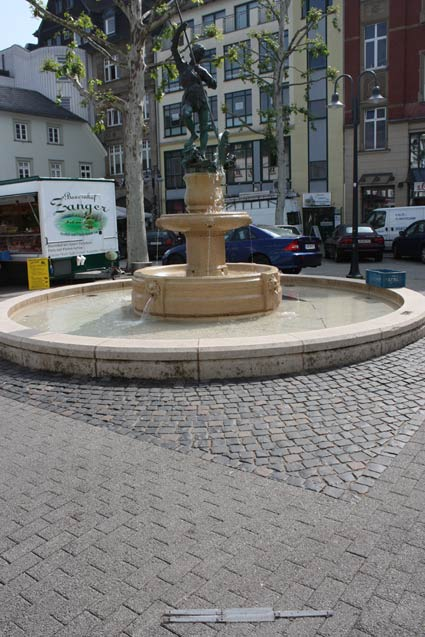 Fountain in Liimburg before installing 3D pavement art