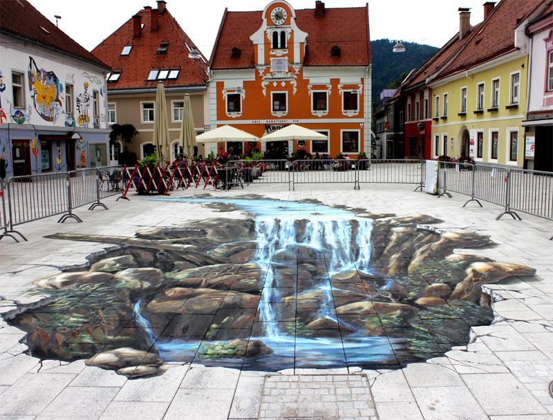 3d street painting pavement painting chalk art
