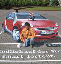 Street Painting - Smart car